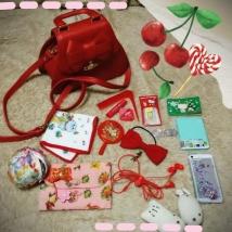 赤いバッグでお出掛けします~