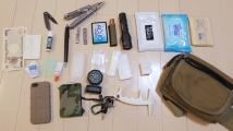 仕事する時の道具をおさめたバッグ。