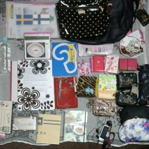 お友達に宿題を手伝って貰った時のバッグ。 I had these bags and items when My friend helped my homework.