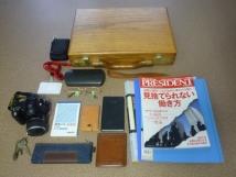 長年使っている木製鞄(仕事カバン)