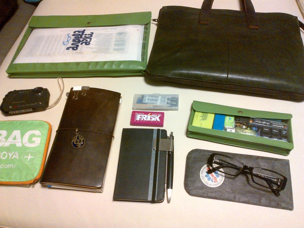 会社の研修時のバッグ