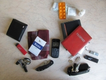 Contents of My Bag (on right side of picture)