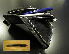 筆箱と芯が常に尖るシャープペン