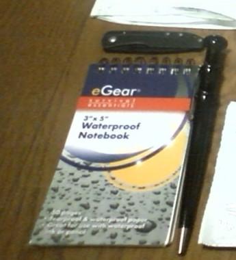 GERBER STL2.0と防水ノートとボールペン