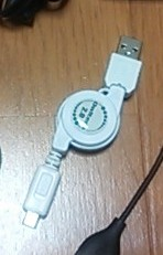 Owltech スマートフォン用切替スイッチ付USBケーブル