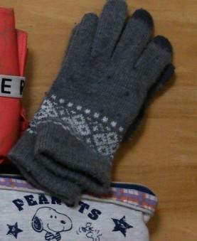 無印良品タッチパネル対応手袋