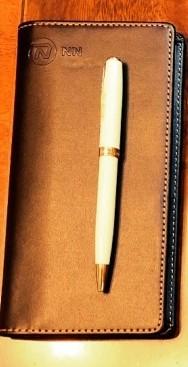 手帳+Parkerのボールペン
