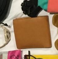無印良品 ヌメ革二つ折り財布