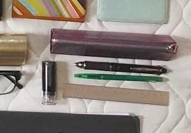 レザーペンケース、筆記具、シャチハタ