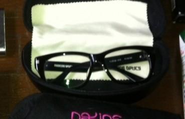 medicine opticsの伊達眼鏡
