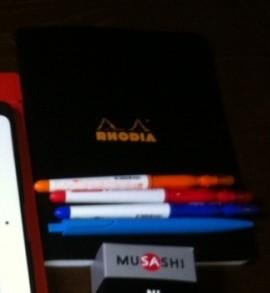 ロディアのメモ帳とペン