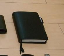 ほぼ日手帳 オリジナル x ほぼ日手帳 革カバー TSブラック
